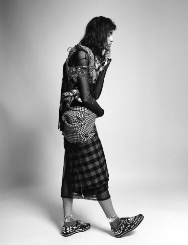 Claudia Martín for Sicky Magazine by Marcus Paarman. Fashion Izabela Kobza