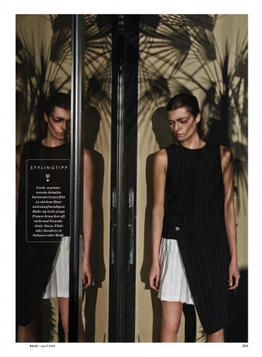 Zen S. for Elle Germany by Thomas Krappitz. Stylist, Nino Cerone